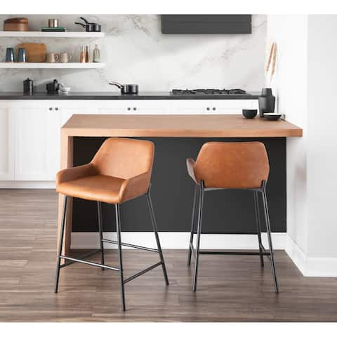 Carbon Loft Galotti Industrial Counter Stools (Set of 2) - N/A