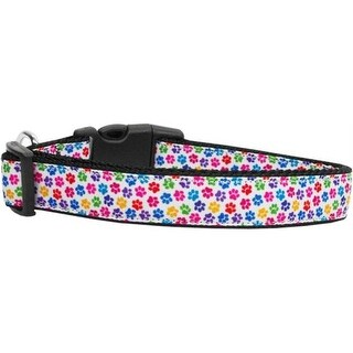 Mirage Pet Products 125-147 LG Confetti Paws Nylon Dog Collars Large