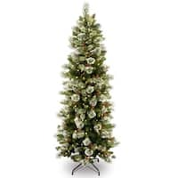 7.5 ft. Wintry Pine(R) Slim Tree with Clear Lights - green