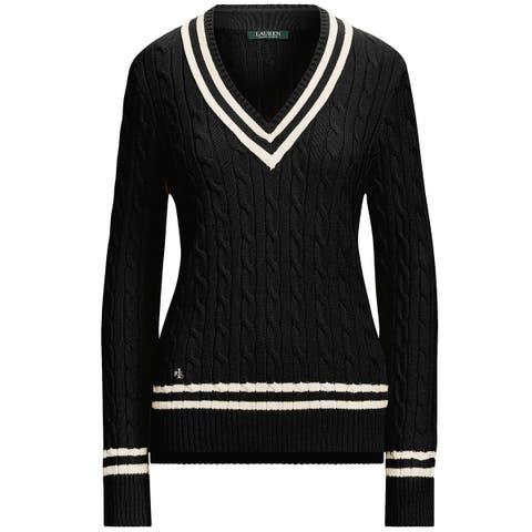 Lauren Ralph Lauren Womens Meren Long Sleeve Sweater X-Small Black