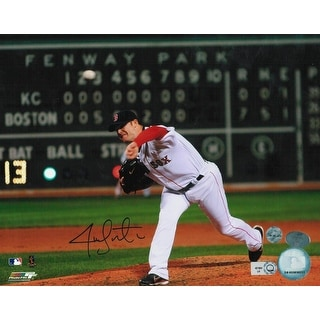 Jon Lester Boston Red Sox Autographed 8x10 Photo Pitching