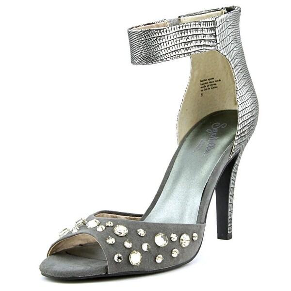 Seychelles Elevate Women Open-Toe Leather Gray Slingback Heel