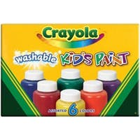 6/Pkg - Crayola Washable Kid's Paint 2Oz