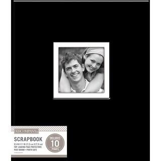 "K&Company Fabric Post Bound Window album 8.5""X11""-Black"