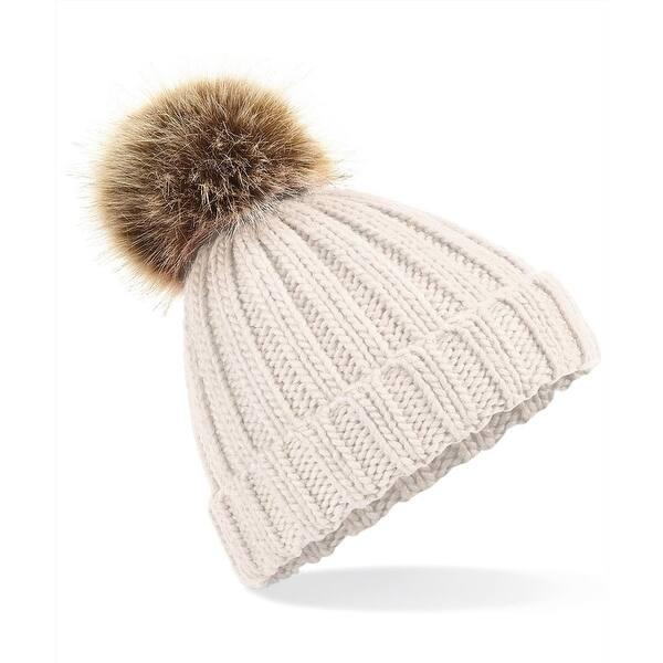 Beachfield Chunky knit cuffed beanie hat knitted