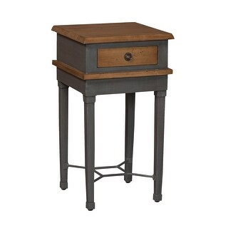"""GuildMaster 714595  Waterfront 15"""" Wide Hand Carved Mahogany End Table - Artisan Dark Stain"""
