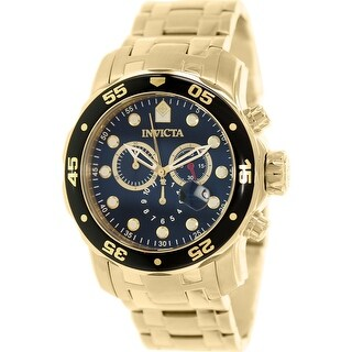 Invicta Men's Pro Diver 0072 Gold Stainless-Steel Swiss Chronograph Dress Watch