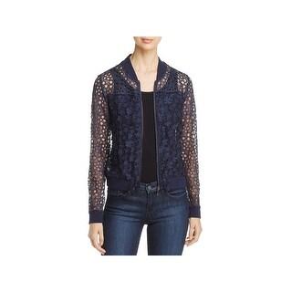 T Tahari Womens Fatima Jacket Floral Applique Lace