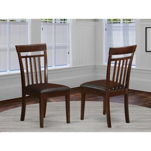 Mahogany Capri Slat Back Chair in Mahogany Finish (Set of 2)