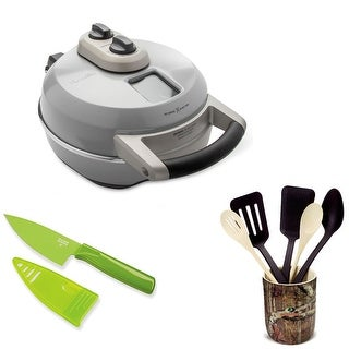 Breville Crispy Crust Pizza Maker with 6 Piece Crock Set and Mini Knife