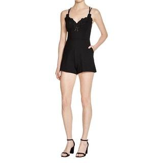 Guess Womens Romper Racerback Embroidered