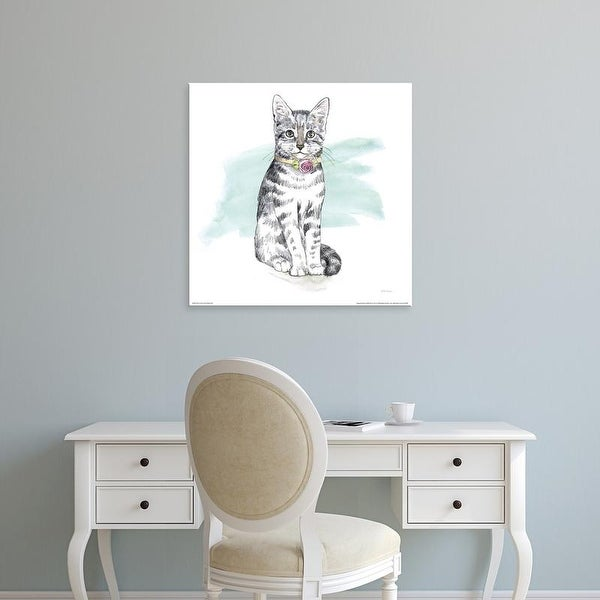 Easy Art Prints Beth Grove's 'Fancy Cats I Watercolor' Premium Canvas Art