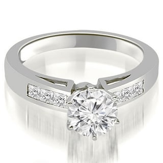 Link to 1.05 CT Channel Set Princess Cut Diamond Engagement Ring in 14KT Gold - White H-I Similar Items in Wedding Rings