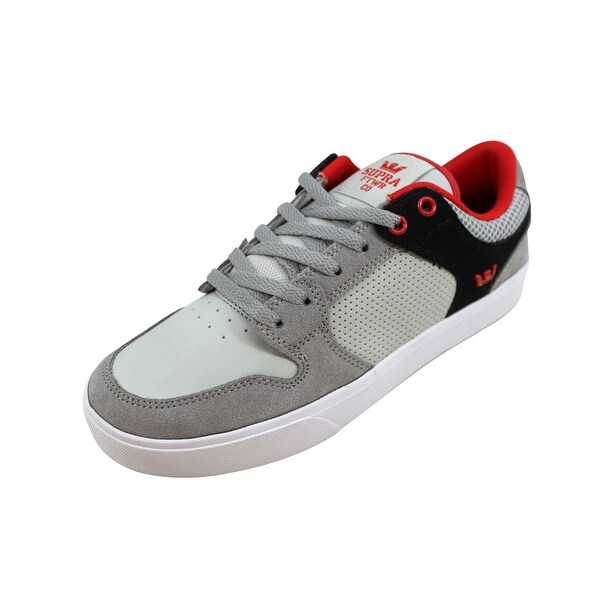 Shop Supra Men's Vaider LC 9.5 Light Grey/Black-Red-White S86006 Size 9.5 LC - On Sale - - 22340393 1b8d00