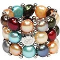 D'AMA 3 Strand Freshwater Cultured Pearl Womens Stretch Ring - Thumbnail 0