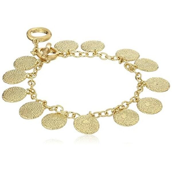 Karen Kane Womens Sandy Beach Charm Bracelet Textured Dangle