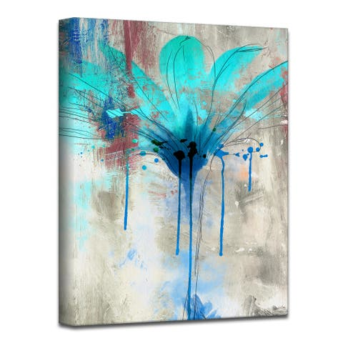 Copper Grove Flower Canvas Wall Art