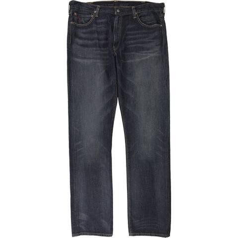 Ralph Lauren Mens The Hampton Straight Leg Jeans, Blue, 38W x 36L - 38W x 36L