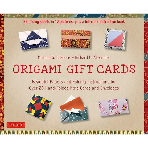 Ingram Publishers Services Origami Gift Cards Note Card and Envelope Kit - 36 Folding Sheets with Instruction Book - Multicolor