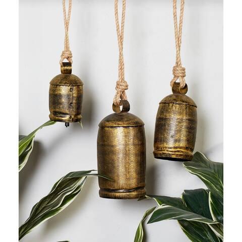 Gold Iron Rustic Windchime (Set of 3) - 22 x 5 x 5