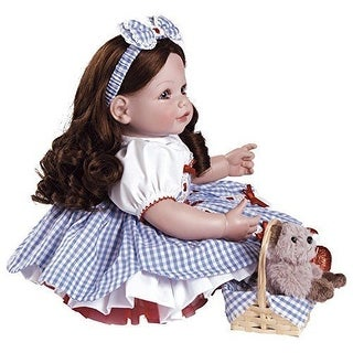 "Adora Premium Quality PLAY DOLL, 20"" Wizard of Oz Dorothy Brown Hair Girl DOLL"