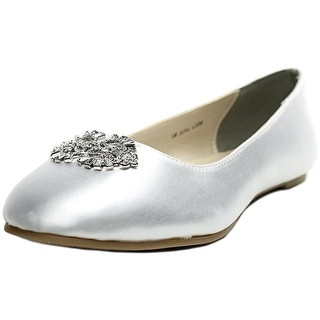 Touch Ups Meghan Women Round Toe Canvas White Flats