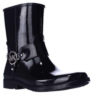 MICHAEL Michael Kors Fulton Harness Rain Booties - Black
