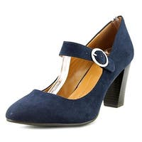 Style & Co. Womens Alabina Suede Closed Toe Ankle Strap Mary Jane Pumps