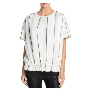 DKNY Womens Casual Top Short Sleeve Panelled