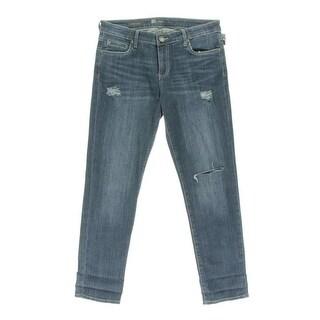 Kut From The Kloth Womens Catherine Denim Destroyed Boyfriend Jeans