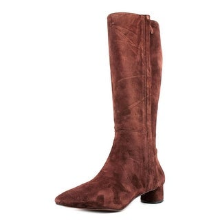 Nine West Nicoh Women Round Toe Suede Brown Knee High Boot