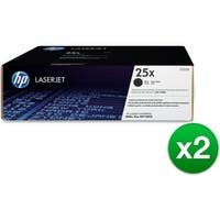 HP 25X High Yield Black Original LaserJet Toner Cartridge (CF325X)(2-Pack)