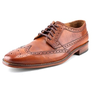 Cole Haan Giraldo Grand Wng II Men Wingtip Toe Leather Brown Oxford