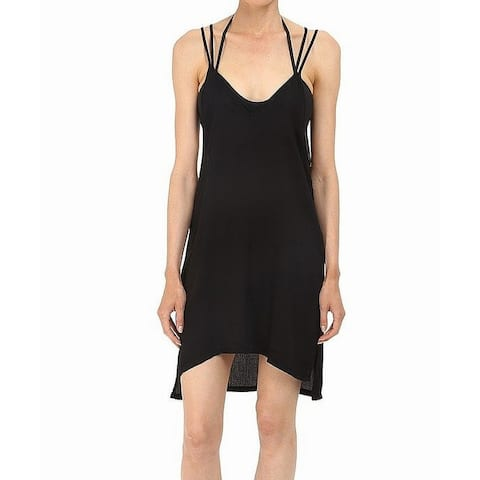 Onia Black Womens Size Medium M Audrey Dress Cover-Up Swimwear