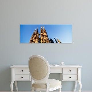 Easy Art Prints Panoramic Images's 'Low angle view of a church, Sagrada Familia, Barcelona, Spain' Premium Canvas Art