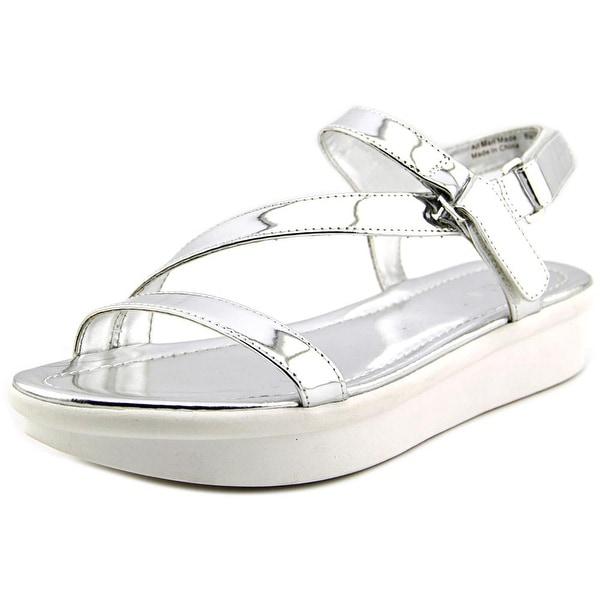 Bar III Addison Women Open-Toe Synthetic Silver Slingback Sandal