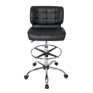 Offex Black Crest Drafting Chair   Chrome/Black