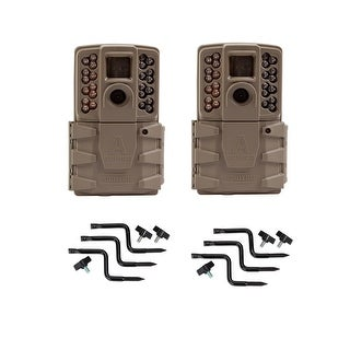 Moultrie MCG 13201 A 30 Game Camera W 720p HD Video EZ Tree Mount Weather Resistant Finish 2 Pack
