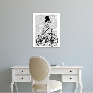 Easy Art Prints Fab Funky's 'Dalmatian on Bicycle' Premium Canvas Art