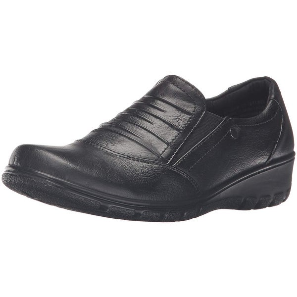 Easy Street Womens Proctor Leather Square Toe Loafers