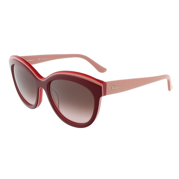 Salvatore Ferragamo SF757S 614 Bordeaux Red Butterfly sunglasses - Bordeaux Red - 55-19-140