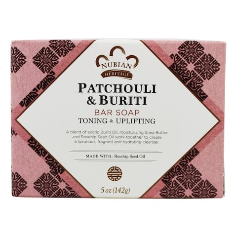 Nubian Heritage - Bar Soap Patchouli & Buriti - 5 oz. - 5 oz.
