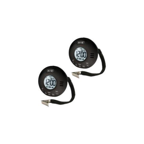 Clarity WAKEASSURE-JOLT Vibrating Bedshaker Alarm Clock Black (2 Pk)