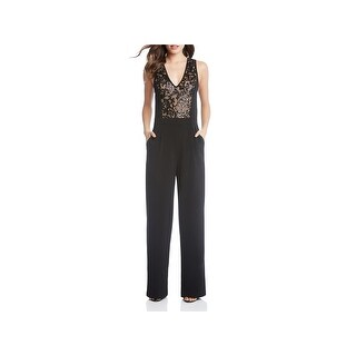 Karen Kane Womens Jumpsuit Sequined Jacquard