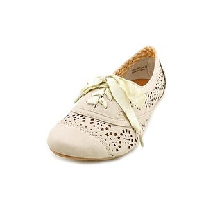 Not Rated Rosebud Women Round Toe Synthetic Nude Oxford