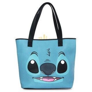 Loungefly Disney Stitch And Scrump Face 2 Sided Big Face Tote Bag - One Size Fits most