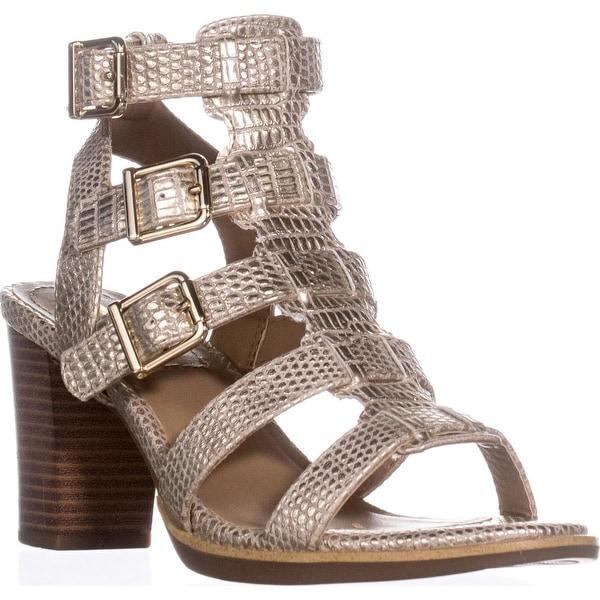 White Mountain Gemmy Block-Heel Dress Sandals, Platinum
