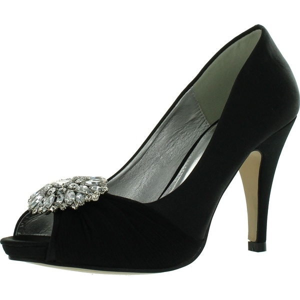 Styluxe Weedle-38 Womens Smooth Lining Shinning Gemstone Featured Front Heels