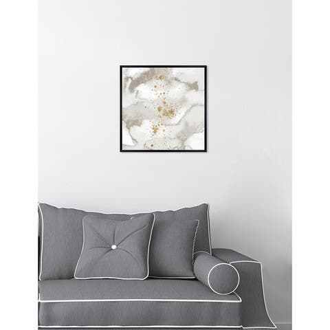Oliver Gal 'Moon and Clouds' Abstract Framed Wall Art Print