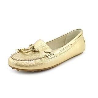 Michael Michael Kors Daisy Moc Women Moc Toe Leather Gold Loafer